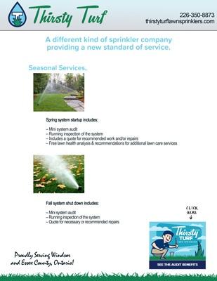 Lawn Sprinkler Maintenace